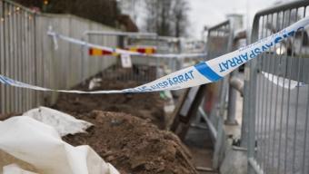 Skelettdelar hittades vid grävarbete