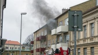Lägenhetsbrand på Stora Norregatan
