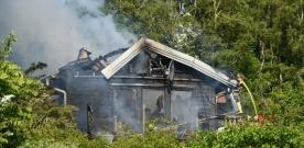 Kraftig villabrand i Sundvik