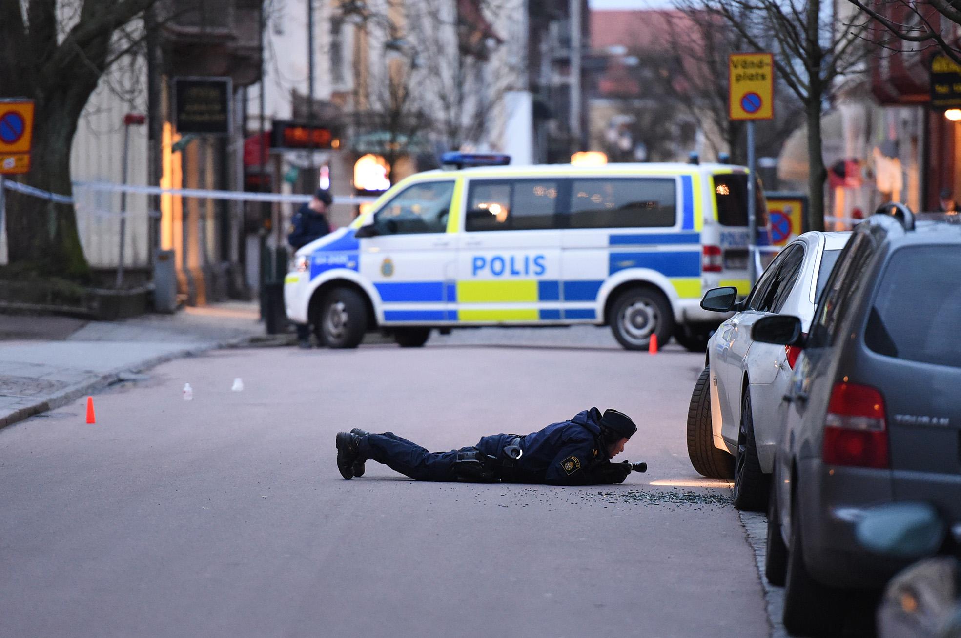 Skottlossning i centrala Landskrona