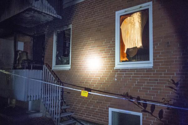 Lägenhet förstörd i mordbrand Svalöv