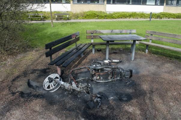 Mopedbrand på Koppargården