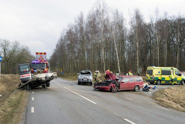 Trafikolycka v109 Svalöv