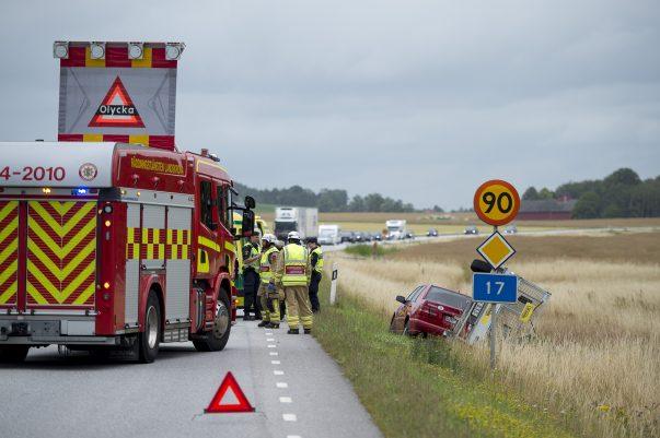 Trafikolycka på väg 17 Landskrona