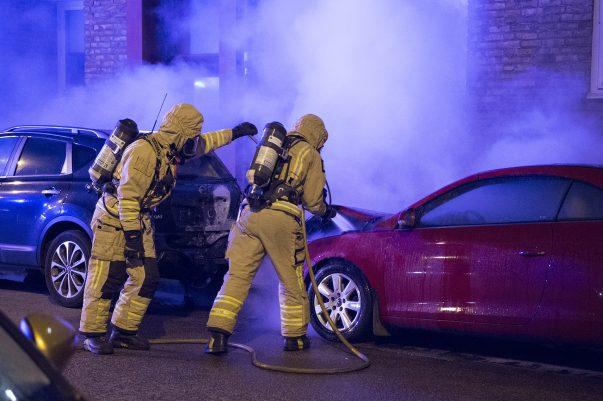 Bilbrand på Stora Norregatan i Landskrona