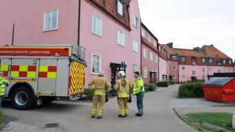 Misstänkt lägenhetsbrand