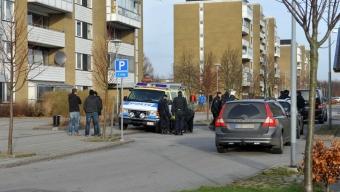 Stor polisinsats på Koppargården