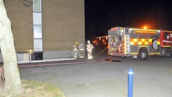 Brand i källaren på Emaljgatan