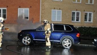 Bilbrand på Järnvägsgatan