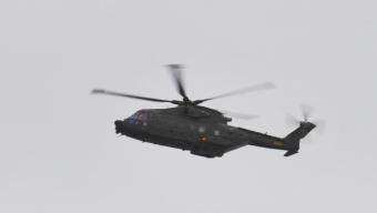 Dansk räddningshelikopter undsatte två män