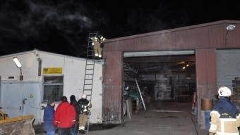 Misstänkt industribrand var glödbrand