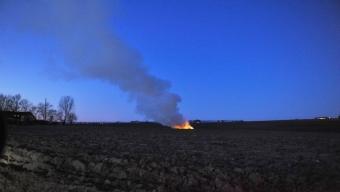 Brand ute var kontrollerad eldning
