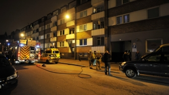 Lägenhetsbrand på Järnvägsgatan – En till sjukhus
