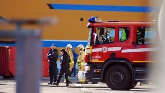 Brand på flytdockan