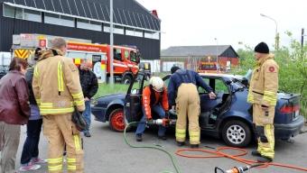 Prova på brandman på road raiders motordag