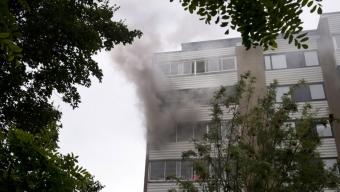 Lägenhetsbrand på Silvergården