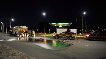Utsläpp av 160 liter bensin på Preem