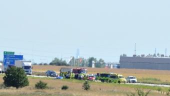 Trafikolycka på E6