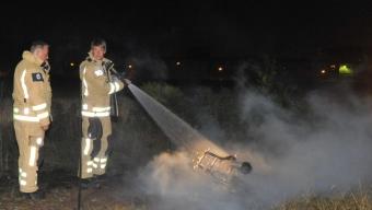 Mopedbrand vid järnvägen bakom Coop