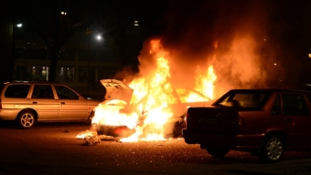 Bilbrand på Saluhallstorget