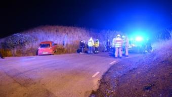 Fem ungdomar i trafikolycka