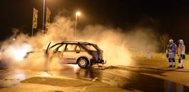 Bilbrand på samåkningsparkering