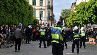Polisinsats vid SD's torgmöte