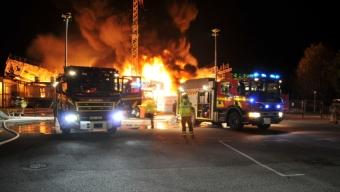 Storbrand i idrottshall Eslöv
