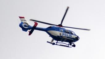 Helikopterjakt i Landskrona efter skjutning