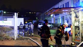 Brand på måleri på Gåsebäck