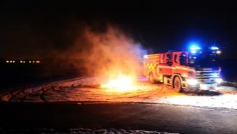 Skärpbrand misstogs för bilbrand