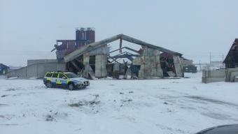 Brand på betongfabrik