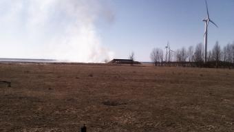 Gräsbrand vid skjutbanorna