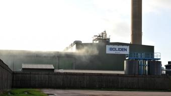 Explosion på Boliden Bergsöe