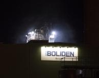 Utdragen brand på Boliden Bergsöe