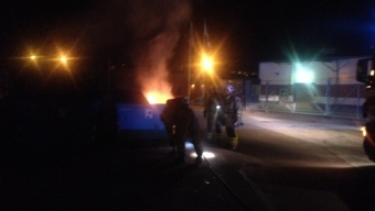 Brand i container