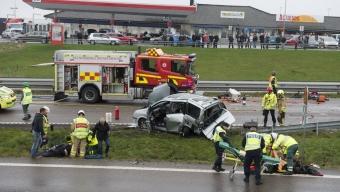 Allvarlig olycka – fem till sjukhus