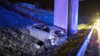 Bil voltade på Tullstorpsvägen