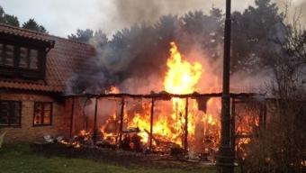 Villabrand i Saxtorpsskogen