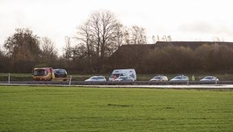 Frontalkrock på E6 – Pickup försökte vända