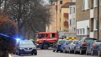 Misstänkt lägenhetsbrand på Järnvägsgatan