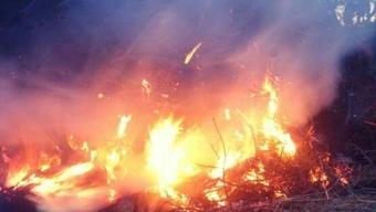 Majbål brann under natten
