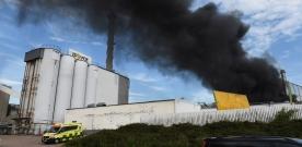 Storbrand på Isover i Billesholm