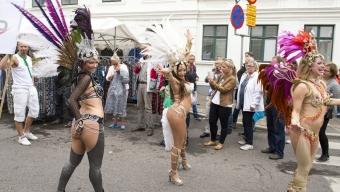 Karnevalståget drog genom stan