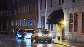 Person greps på Hotel Öresund