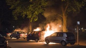 Tre bilbränder vid Dammhag