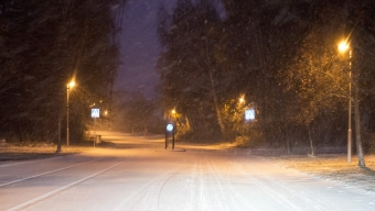 Snöfallet orsakade kaos i trafiken
