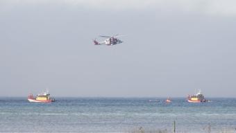 Sjöräddningen övade i Lundåkrabukten