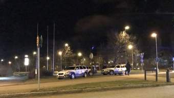 Stor polisinsats vid Pilängsrundeln