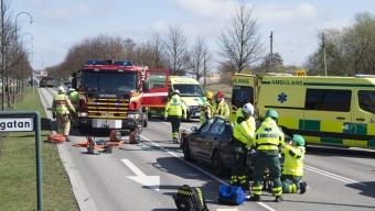 Trafikolycka på Österleden – En till sjukhus